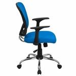 Flash Furniture Blue Mesh Back Office Chair