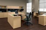 Global Genoa L Shaped Corner Executive Desk GEN502L