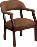 Flash Furniture Bomber Jacket Brown Luxurious Conference Chair