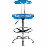Flash Furniture Bright Blue Drafting Chair LF-215-BRIGHTBLUE-GG