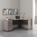 "Bush Series A 48"" Corner Desk with Mobile File Cabinet SRA035"
