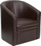 FL-GO-S-03-BN-FULL-GG-Flash Furniture Brown Leather Barrel-Shaped Guest Chair