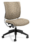 Global Graphic Series Armless Fabric Computer Chair 2737