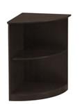 2 Shelf Medina Series Corner Bookcase with Mocha Finish by Mayline