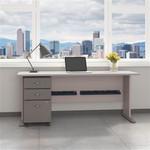"Bush Series A 72"" Desk with Mobile File Cabinet SRA013 (7 Finish Combinations!)"