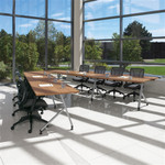 Global Junction Series Shared Leg V Shaped Office Table Configuration