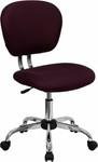 Flash Furniture Burgundy Mesh Computer Chair