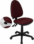 Flash Furniture Burgundy Office Chair with Lumbar Support