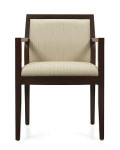 Global Layne Series 8525T Wood Executive Style Armchair