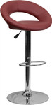 Flash Furniture Burgundy Vinyl Adjustable Height Bar Stool