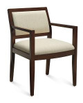 Global Layne Series Wood Armchair 8522T