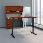 Bush Series C 60W Sit-Stand Desk with Credenza and Hutch SRC107