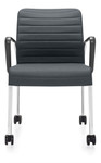 Global Lite Series 5952C Mobile Side Chair with Loop Arms (10 Colors Available!)