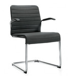 Global Lite Series 5954 Sled Base Guest Chair with Arms (10 Colors Available!)