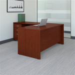 Bush Series C 66W L Shaped Desk with 48W Return and Mobile File Cabinet SRC083