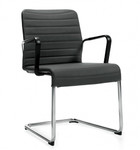 Global Lite Series 5955 Sled Base Guest Chair with Loop Arms (10 Colors Available!)
