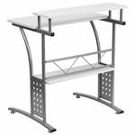 Flash Furniture Clifton Series White Computer Desk