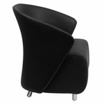 Flash Furniture Contemporary Black Leather Reception Chair ZB-1-GG