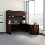 Bush Series C 72W L Shaped Desk with Hutch and Mobile File Cabinet
