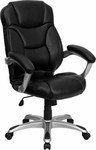 Flash Furniture Contemporary Executive Chair GO-725-BK-LEA-GG