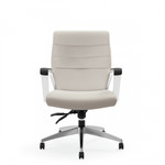 Global Luray Medium Back Leather Office Chair 6462LM