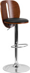 Flash Furniture Contemporary Wood Bar Stool with Walnut Finish