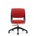 Global Novello 6403 Armless Office Chair with Designer Fabric Upholstery