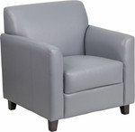 Flash Furniture Diplomat Gray Leather Reception Chair BT-827-1-GY-GG