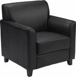 Flash Furniture Diplomat Series Black Leather Lounge Chair