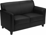 Flash Furniture Diplomat Series Black Leather Love Seat