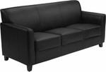 Flash Furniture Diplomat Series Black Leather Sofa
