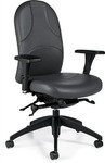 Global Obus Ultraforme Leather Medium Back Office Chair 5441LM-1