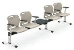 Global Popcorn 4 Person Beam Chair with Power POP504