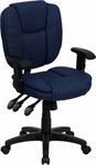 Flash Furniture Ergonomic Navy Blue Upholstered Computer Chair