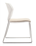 Global Popcorn 6713 Armless Stack Chair with Upholstered Seat