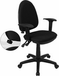 Flash Furniture Ergonomic Office Chair with Arms and Lumbar Support
