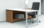 Global PRC522R Princeton Freestanding Writing Desk with Storage Credenza (2 Finish Options)