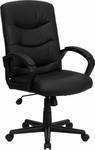 Flash Furniture Executive Leather Office Chair GO-977-1-BK-LEA-GG