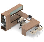 Global Princeton Modular Executive Desk A3R