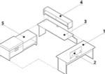 Global Princeton Modular Executive Desk A4C