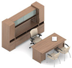 Global Princeton Modular Executive Office Furniture Configuration C1F1