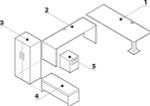 Global Princeton Modular Office Desk A5-3D