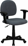 Flash Furniture Gray Fabric Desk Chair with Adjustable Arms