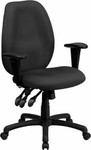 Flash Furniture Gray Fabric Office Chair with Arms