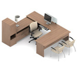 Global Princeton U Shaped Modular Desk Layout A3L