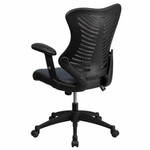 Flash Furniture Gray Mesh Office Task Chair with Adjustable Arms