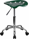 Flash Furniture Green Tractor Seat Stool