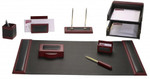 Dacasso D8020 Rosewood and Leather 10 Piece Desk Set