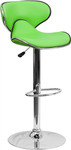 Flash Furniture Green Vinyl Bar Stool with Modern Style