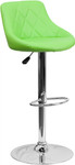 Flash Furniture Green Vinyl Bucket Seat Pub Stool